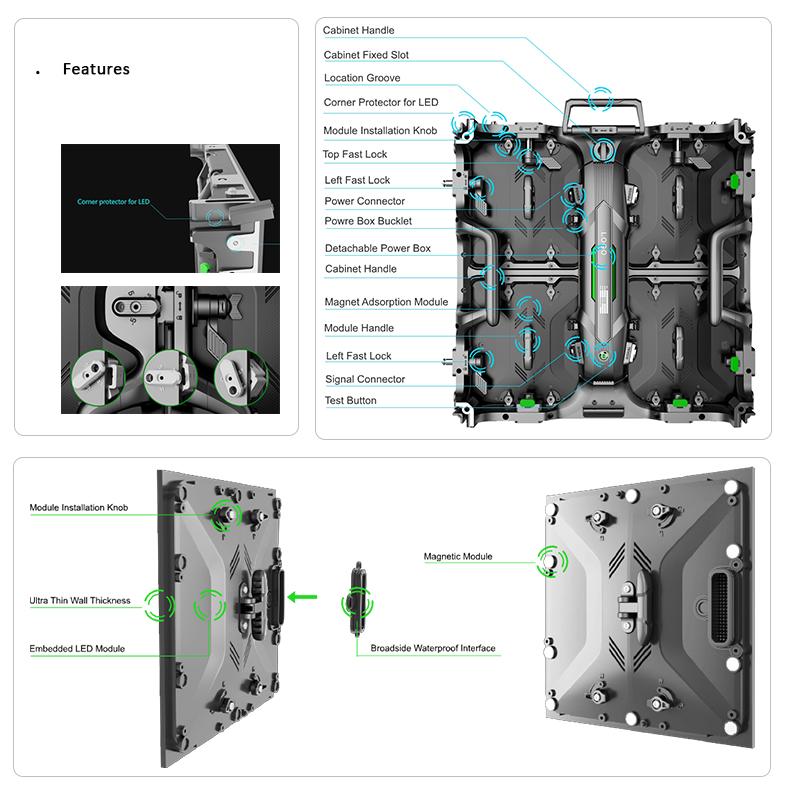 Magic 500 Rental LED Cabinet Details