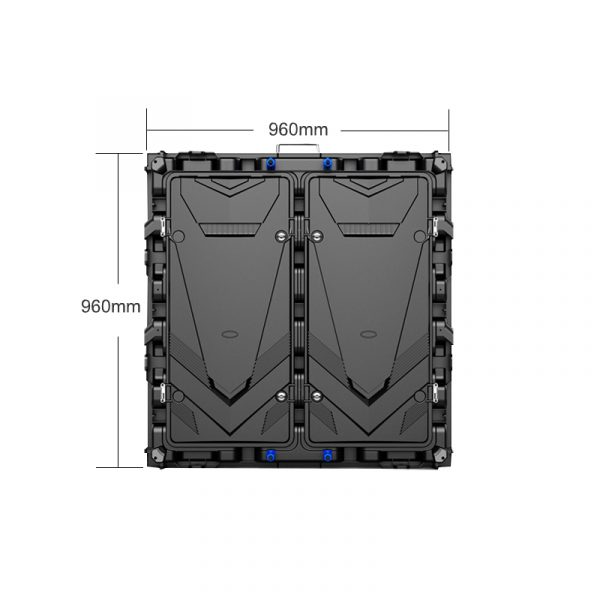 indoor fixed installation 960mmx960mm led cabinet